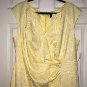 Dress Barn Dresses - Dress Barn beautiful yellow split w/V neck dress
